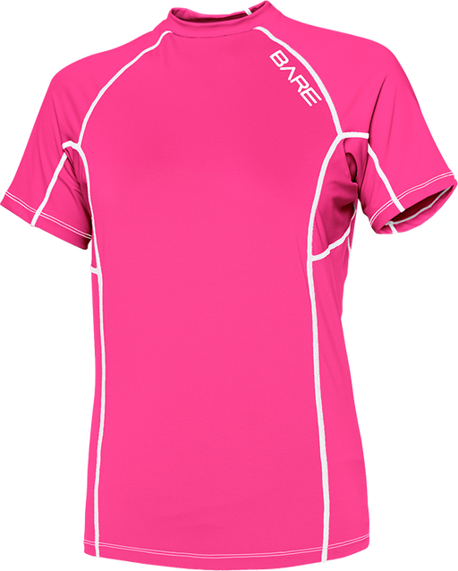 Bare Sunguard, Short Sleeve, Womens, Pink - L