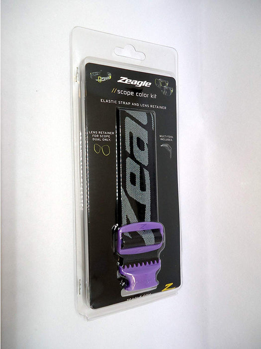 Zeagle Scope Elastic Strap Color Kit Mask Accessory / Purple / Black