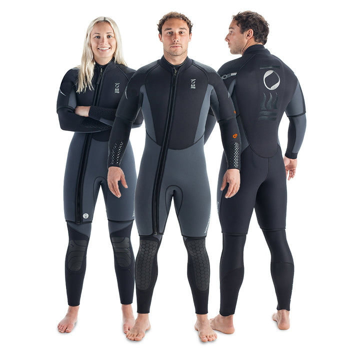 Fourth Element Helios 7mm Wetsuit / Gray / Black / XL - Dive Toy