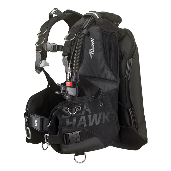 Scubapro Seahawk 2 w/Air 2 5th Gen BCD / Black / Black / XL