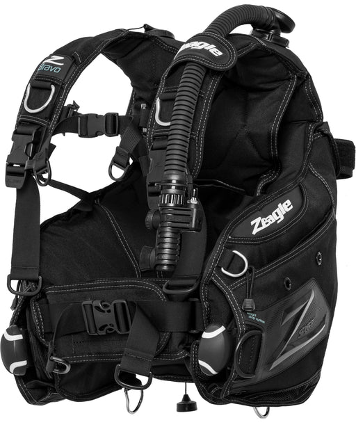 Zeagle Bravo, w/Inflator, Hose and RE Valve  BCD / Black / White / XL