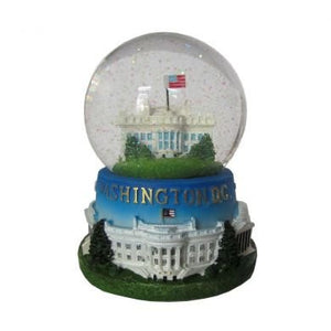 White House Musical Snow Globe