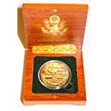 Washington DC Monuments Coin in Wood Box