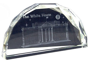 The White House Crystal Desk Paperweight