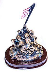 Iwo Jima Statue with Washington DC Wood Base