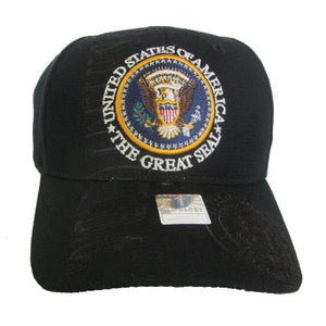 Black Great Presidential Seal Baseball Hat
