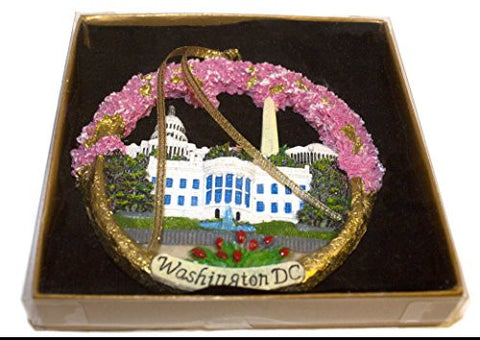 Pink - Christmas Ornament / Washington DC Monuments Ceramic