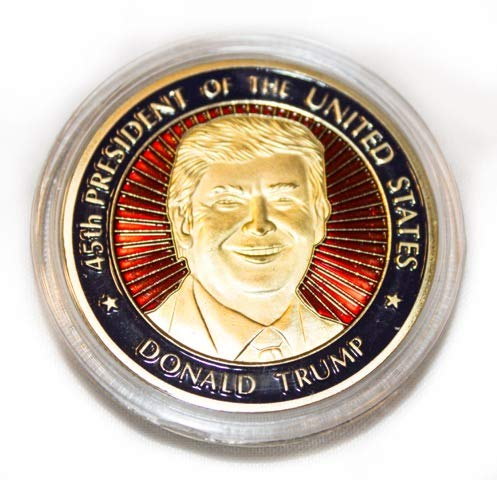 Donald Trump Novelty Coin in Wood Box
