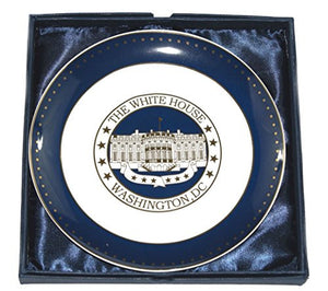 White House Plate with Display Stand