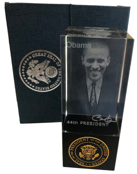 Barack Obama Crystal Figurine