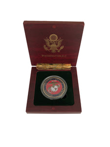 Colorful Marine Corps Coin