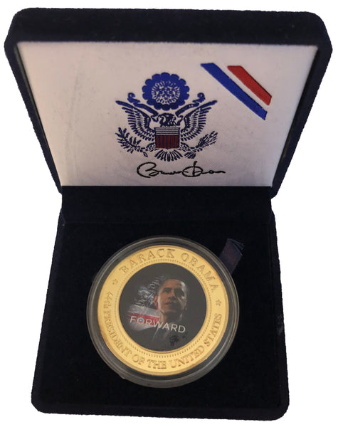 Barack Obama Inaugural Coin as 44th President in Velvet Box