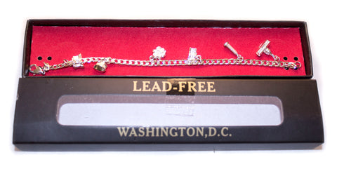 Washington DC Monuments Charm Bracelet - Silver in Color