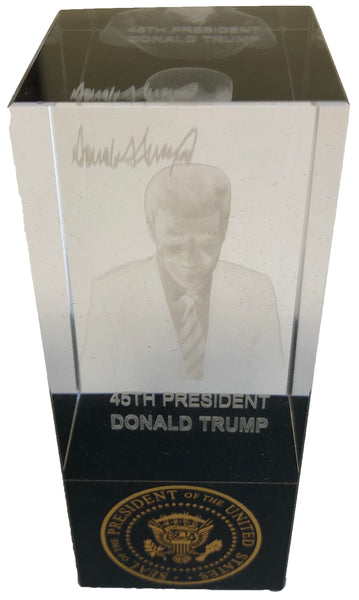 Donald Trump Crystal Figurine