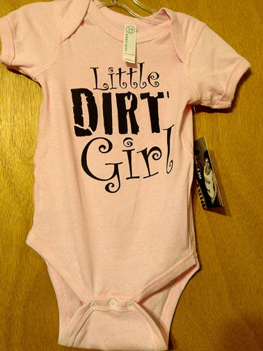 Little Dirt Girl Onesie