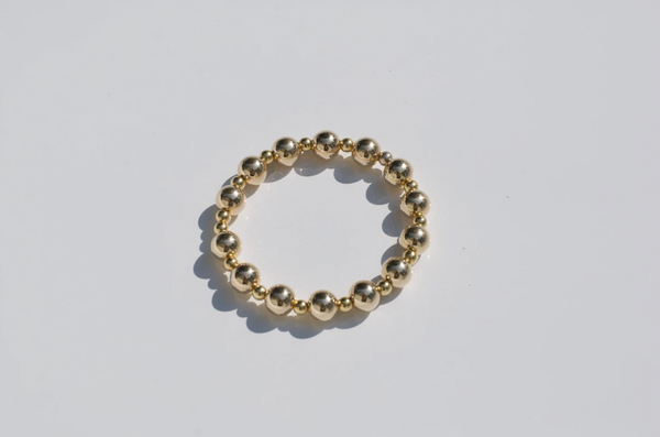 LARGE ALTERNATING GOLD FILLED BRACELET