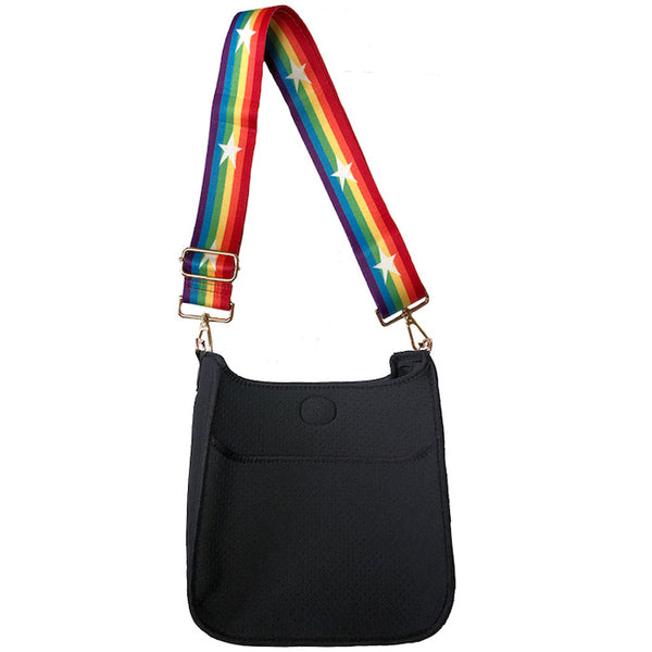 Black Neoprene Crossbody Bag