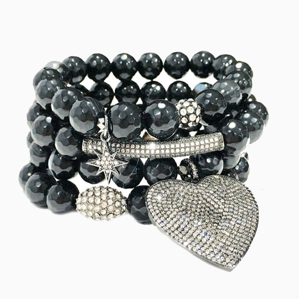 Black Onyx Love Set