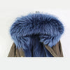 Blue Fox Fur Lined Waterproof Parka