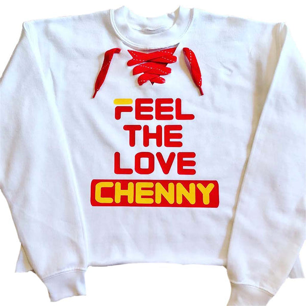 Feel The Love Lace Up Sweatshirt