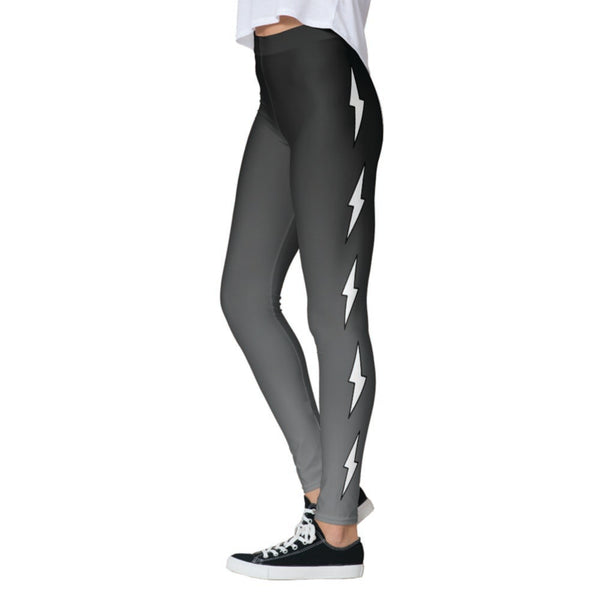 Side Lightning Bolts Grey Ombre Legging