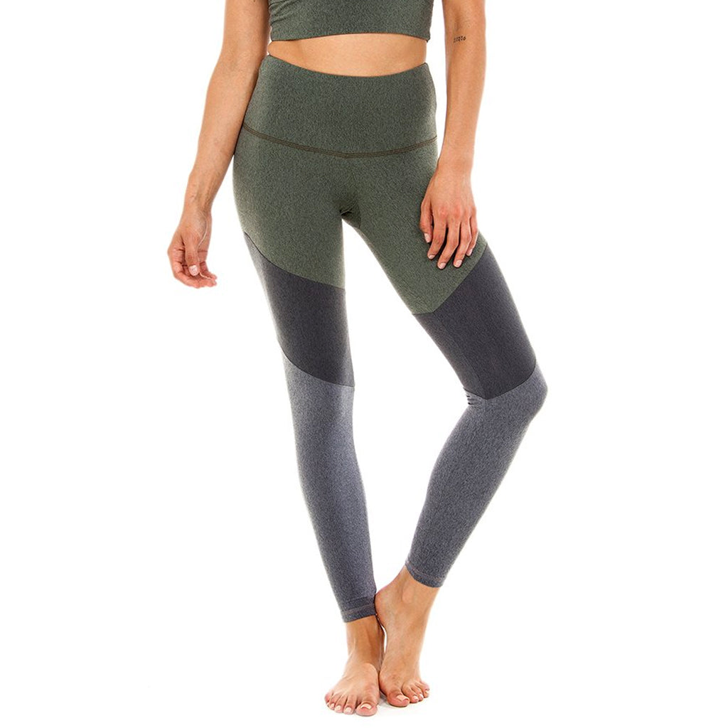 Color Block Legging Green