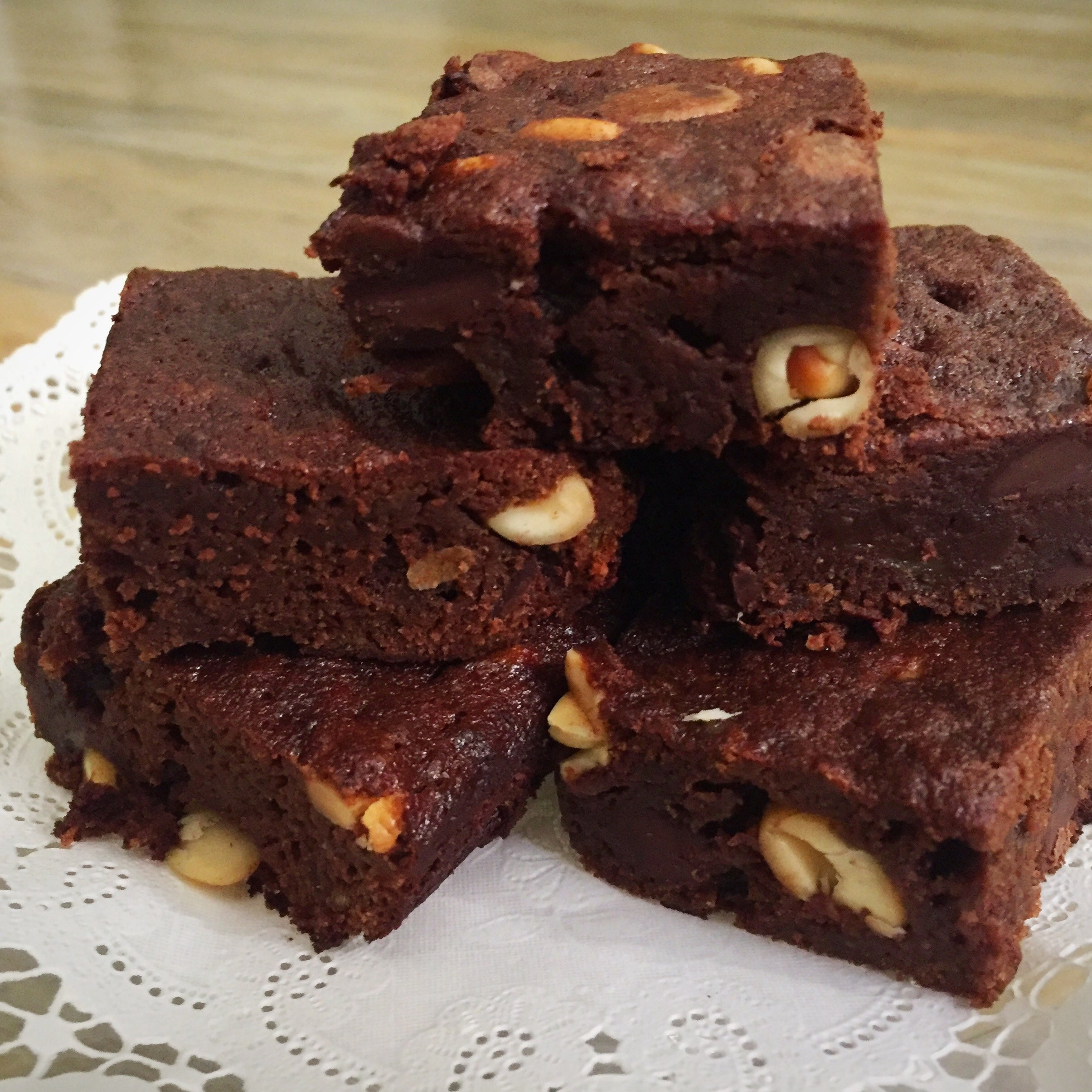 Nutty Banana Brownies
