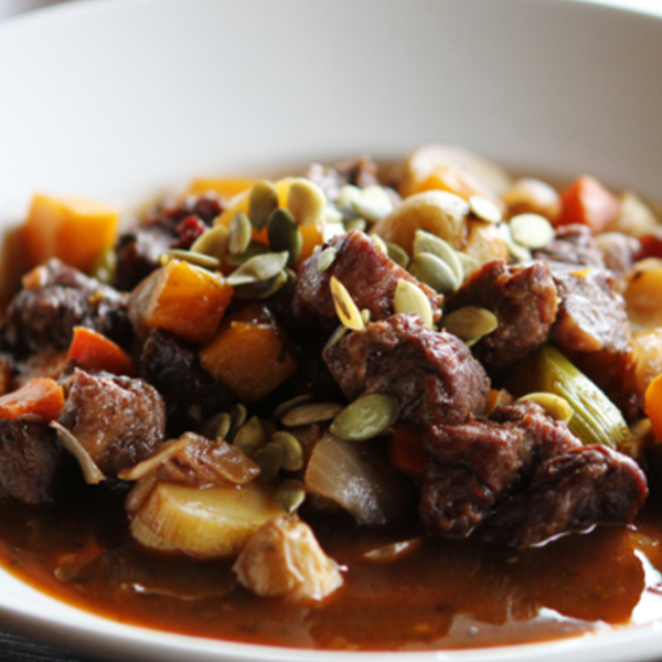 Spicy Braised Beef & Pumpkin Stew