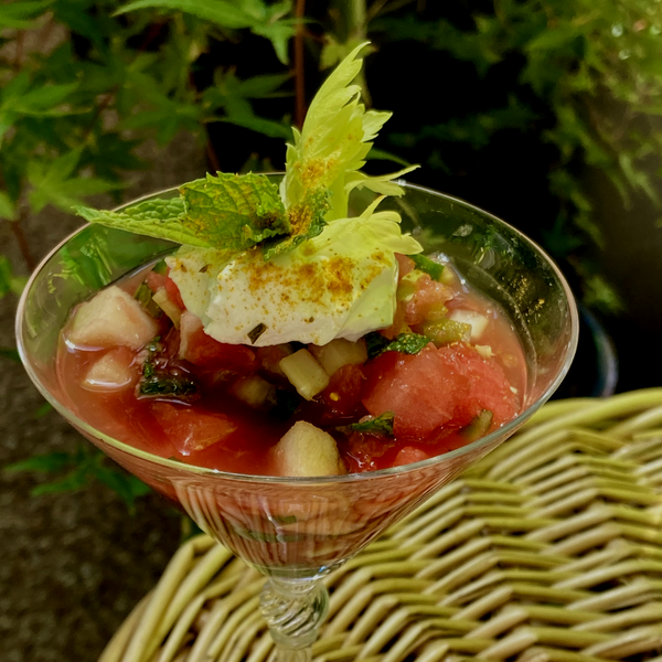 Gingered Watermelon Gazpacho