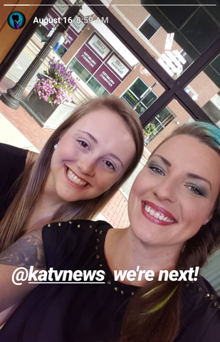 tessa and bridgette selfie on katv7 good morning arkansas