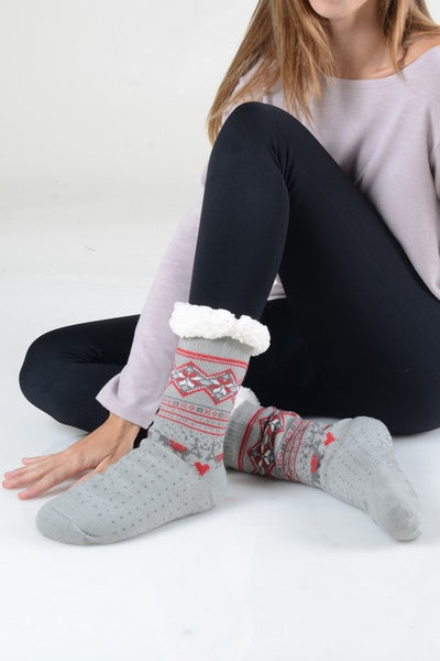 Fuzzy Argyle Holiday Socks - more colors!