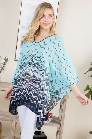 Blue Waves Poncho