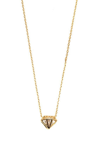 CZ in Diamond Dainty Necklace