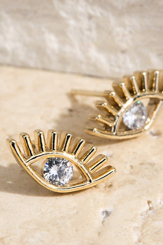 Crystal Eye Studs