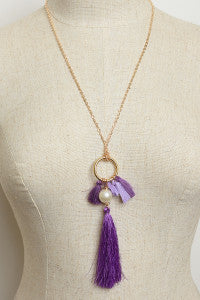Pearl and Tassel Necklace