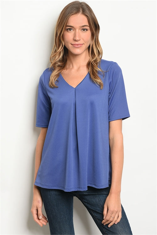 LAST CALL - Surplice Half Sleeve Blouse - M/L