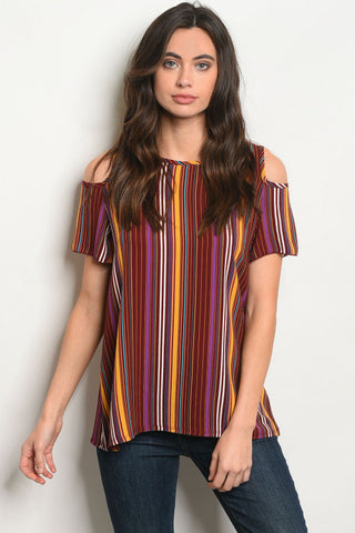 LAST CALL - Stripe Cold Shoulder - XS