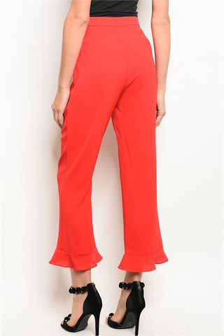 Cherry Flare Ankle Pants - Small