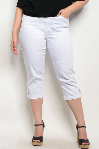 Missy White Capris Sizes 10,12,14