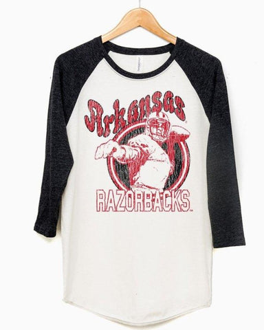 Retro Player Baseball Tee