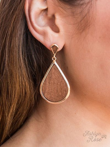 Against the Grain Drop Earrings