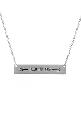 Follow Your ❤ Bar Necklace