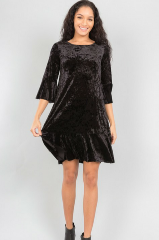 LAST CALL - Crushed Velvet Dress