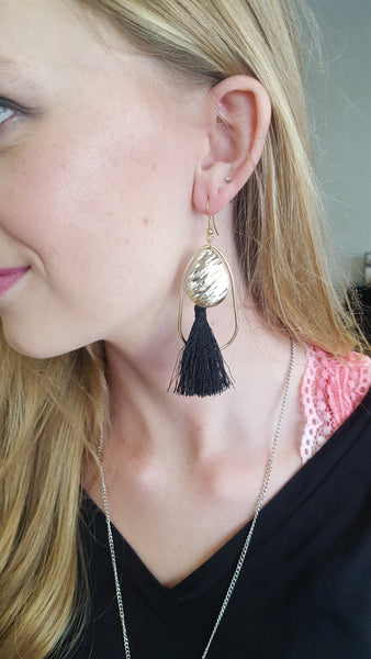 Hoop and Tassel Earrings