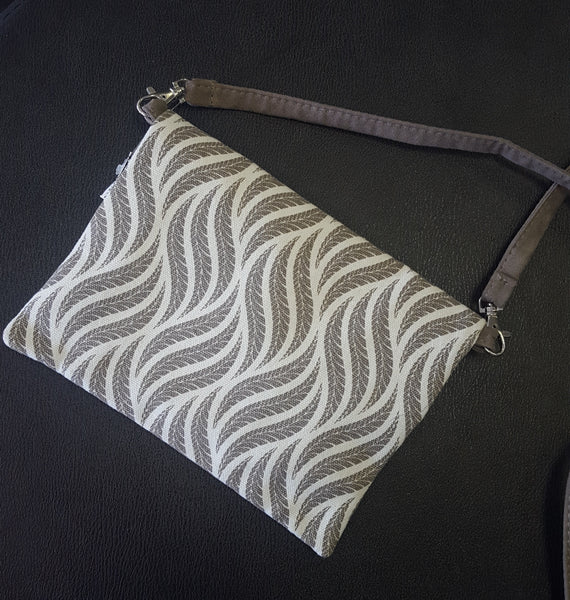 Printed Fold Over Cross Body Bag