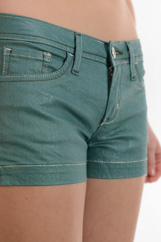 LAST CALL - Teal Shorts - fits like XS