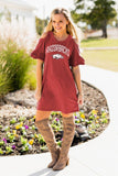 Adventure Awaits Razorbacks Dress - S & M Left!