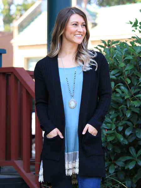 Side Tie Sweater Cardigan