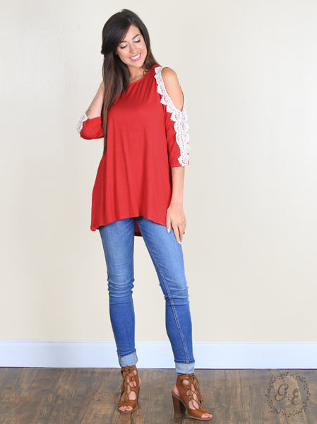 Olivia's Crochet Cold Shoulder Top