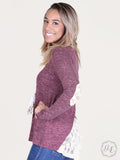 LAST CALL- Orchid Slub Knit Sweater